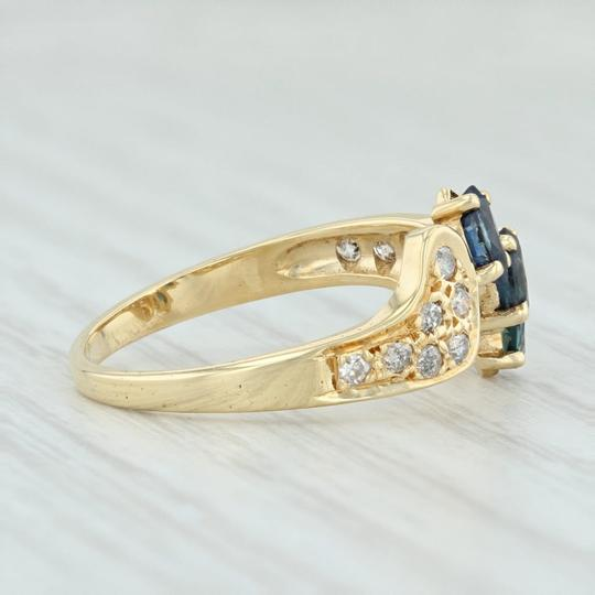 Other .71ctw Sapphire & Diamond Bypass Ring - 18k Yellow Gold Size 7.5 Image 4