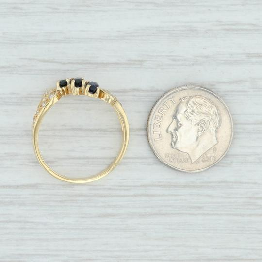 Other .71ctw Sapphire & Diamond Bypass Ring - 18k Yellow Gold Size 7.5 Image 5