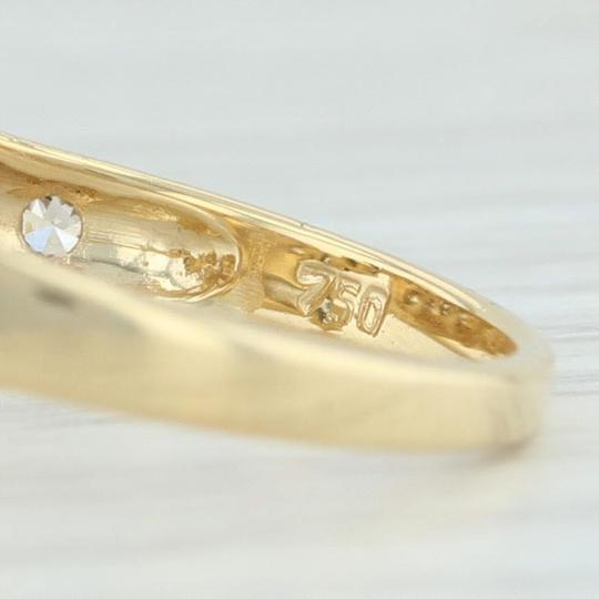 Other .71ctw Sapphire & Diamond Bypass Ring - 18k Yellow Gold Size 7.5 Image 6