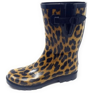 Forever Young Rainboot Rain Waterproof Wellies Galoshes Leopard Boots