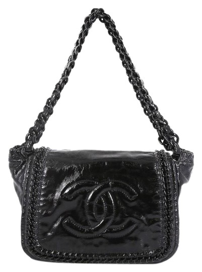 Preload https://img-static.tradesy.com/item/25679328/chanel-classic-flap-resin-modern-chain-quilted-crinkled-medium-black-patent-leather-shoulder-bag-0-1-540-540.jpg