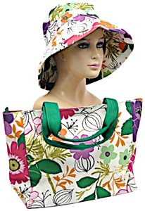 Jim Thompson Summer Summer Hat Floral Tote in Multicolor