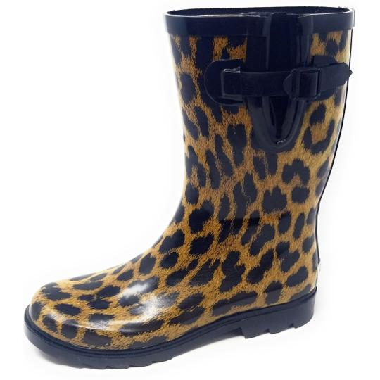 Forever Young Rainboot Rain Waterproof Wellies Galoshes Leopard Boots Image 0
