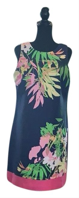 Preload https://img-static.tradesy.com/item/25679361/taylor-blue-multicolored-tropical-mid-length-workoffice-dress-size-8-m-0-1-650-650.jpg