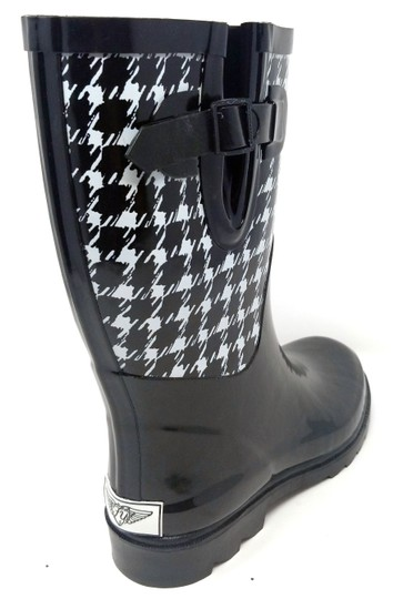 Forever Young Rainboots Rain Midcalf Galoshes Wellies Houndsthooth Boots Image 1