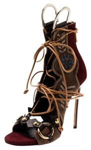 Dsquared2 Suede Leather Studded Multicolor Sandals