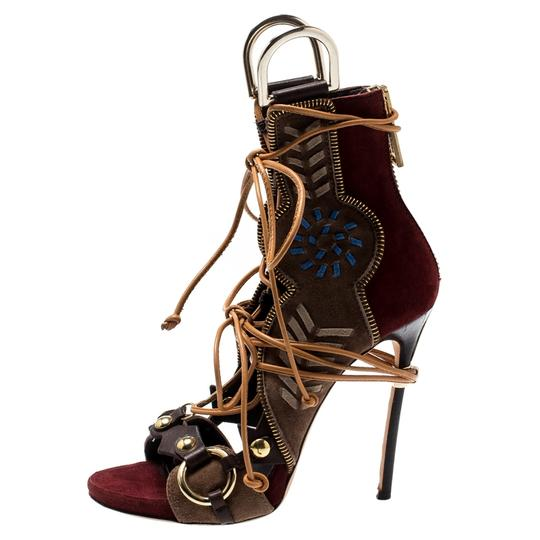 Dsquared2 Suede Leather Studded Multicolor Sandals Image 1