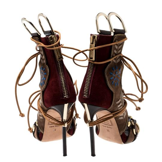 Dsquared2 Suede Leather Studded Multicolor Sandals Image 4