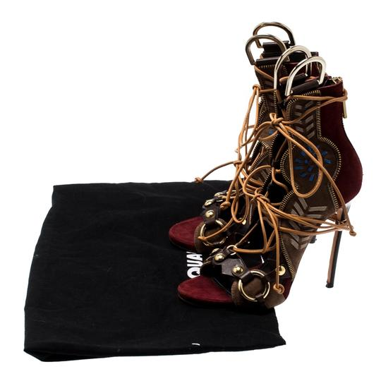 Dsquared2 Suede Leather Studded Multicolor Sandals Image 7
