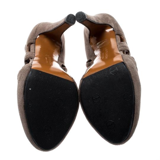 Givenchy Suede Peep Toe Leather Brown Boots Image 6