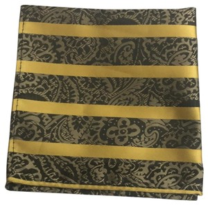 Other Gold And Black Stripes With Paisley Detail Square