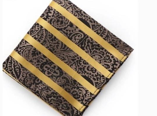 Other Gold And Black Stripes With Paisley Detail Square Image 1