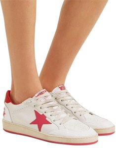 Golden Goose Deluxe Brand Designer Sneaker Fashion Sneaker Sneaker Sale Superstar White and Red Leather Athletic