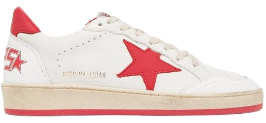 Golden Goose Deluxe Brand Designer Sneaker Fashion Sneaker Sneaker Sale Superstar White and Red Leather Athletic Image 1
