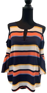 Karl Lagerfeld Top blue/orange/multi