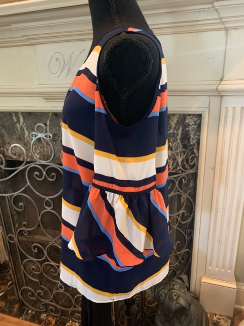 Karl Lagerfeld Top blue/orange/multi Image 2