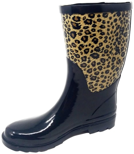 Preload https://img-static.tradesy.com/item/25679464/forever-young-black-and-leopard-rb-5510-women-s-mid-calf-rubber-rain-bootsbooties-size-us-11-regular-0-1-540-540.jpg