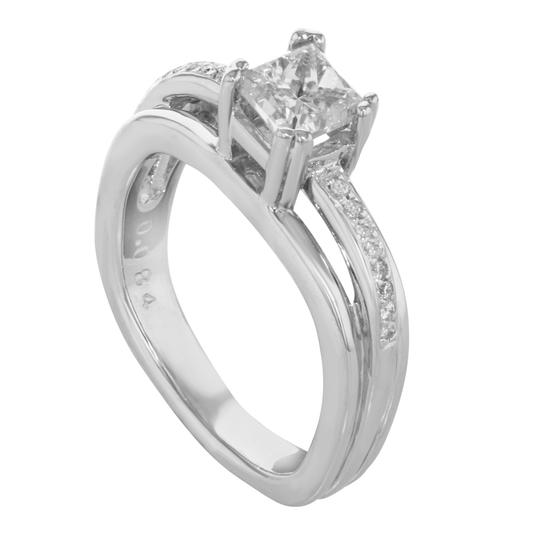 Rachel Koen Princess Cut Diamond Accented Ladies Engagement Ring 1.36 Cts Image 3