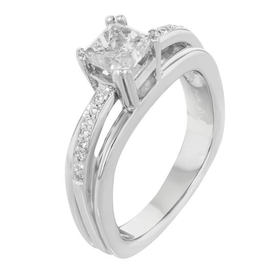 Rachel Koen Princess Cut Diamond Accented Ladies Engagement Ring 1.36 Cts Image 4