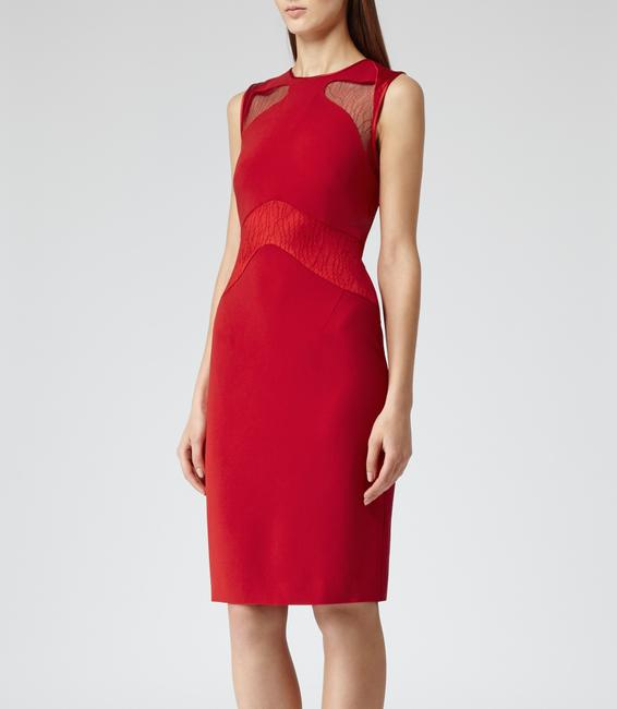 Reiss Bodycon Lace Panel Career Sexy Dress Image 2
