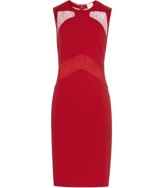Reiss Bodycon Lace Panel Career Sexy Dress Image 3