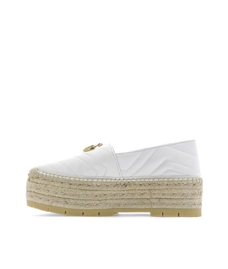 Gucci Gg Espadrille Double G White Platforms Image 3