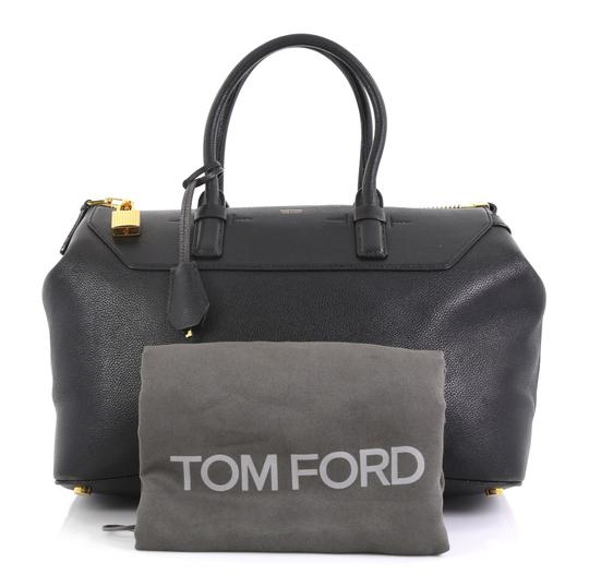 Tom Ford Petra Calfskin Medium Tote in black Image 1