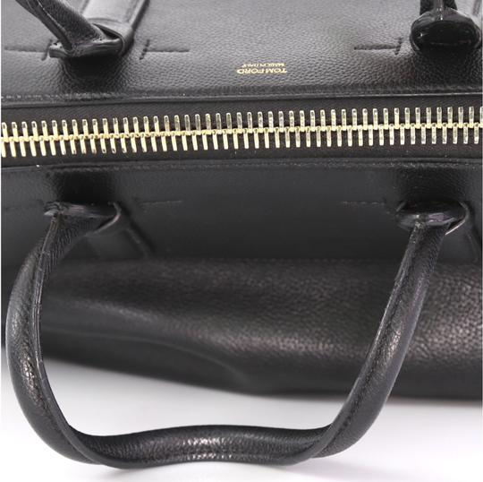 Tom Ford Petra Calfskin Medium Tote in black Image 5