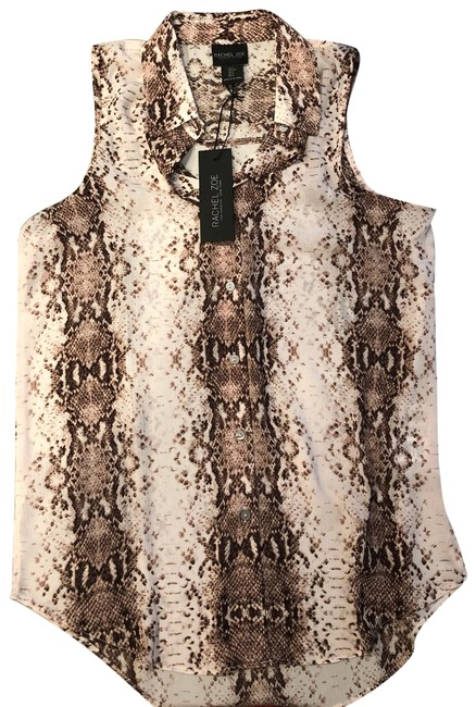 Rachel Zoe Button Down Shirt Burgundy multi-colored Image 0