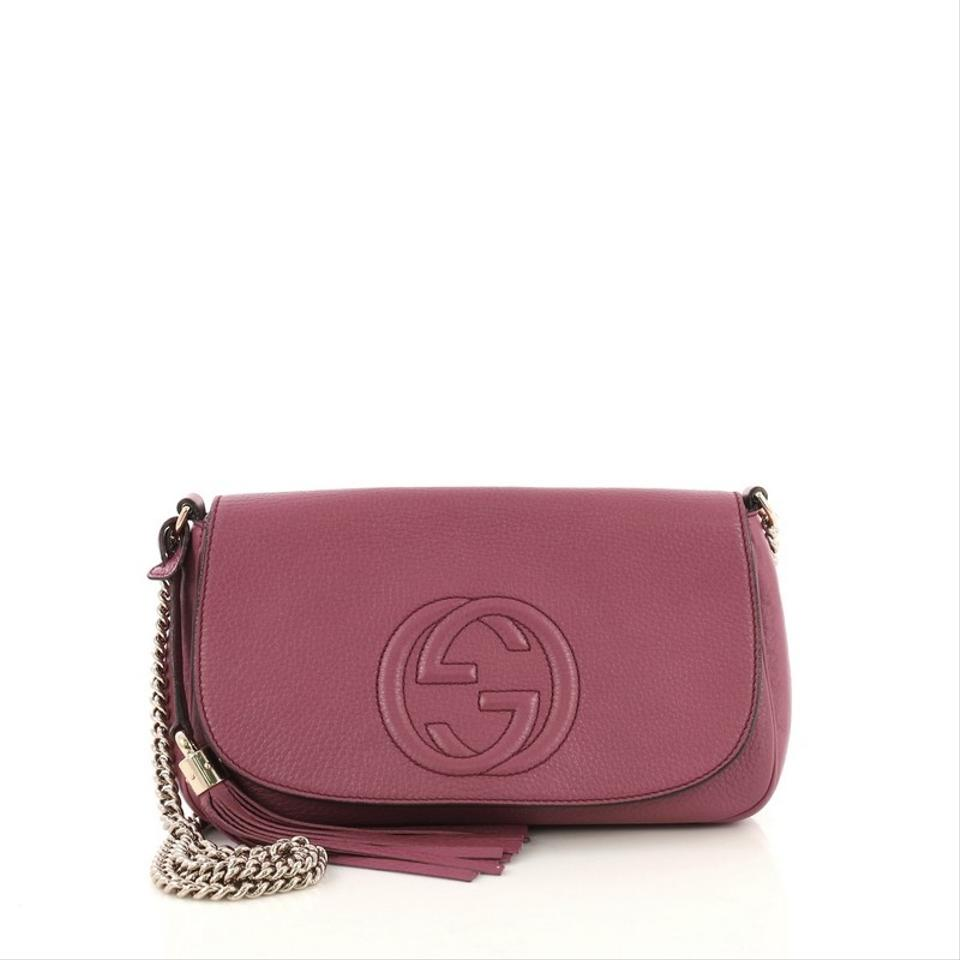297d12840 Gucci Soho Chain Medium Purple Leather Cross Body Bag - Tradesy