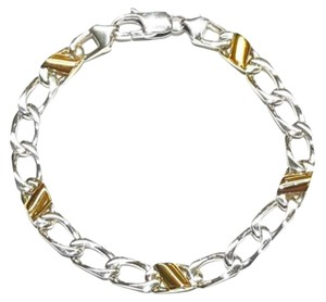 Tiffany & Co. BEAUTIFUL!!!! Tiffany & Co. 18 Karat Yellow Gold and Sterling Silver Curb Link Bracelet