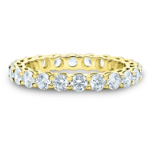 14kt Yellow Gold 2 Cttw Diamond - Shared Prong Airline Setting Size 6.25 Ring