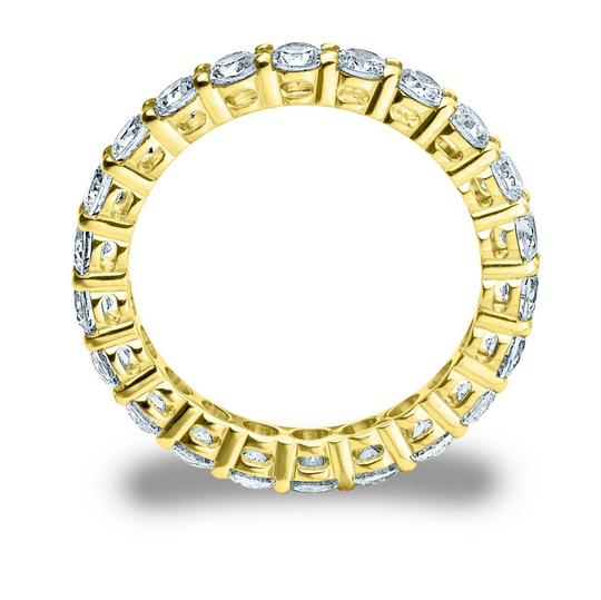 14kt Yellow Gold 2 Cttw Diamond - Shared Prong Airline Setting Size 6.25 Ring Image 1