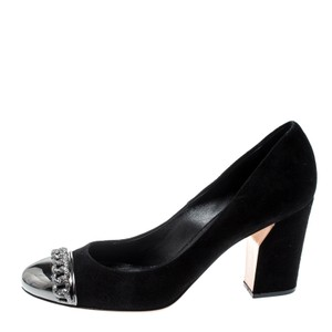 Casadei Suede Leather Black Pumps