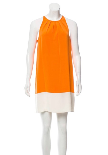 Preload https://img-static.tradesy.com/item/25679596/theory-orange-off-white-charlaine-silk-blend-short-casual-dress-size-00-xxs-0-0-650-650.jpg
