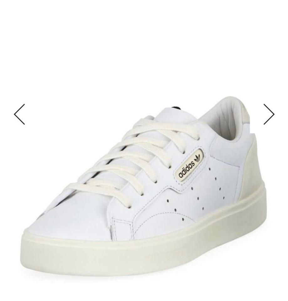 speical offer info for presenting White Leather Low-top Sneakers