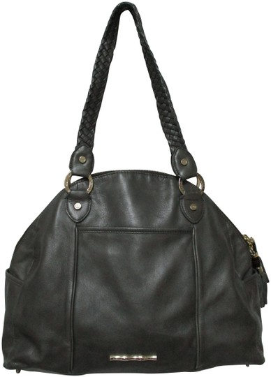 Preload https://img-static.tradesy.com/item/25679643/elaine-turner-large-zip-top-purse-braided-st-gray-leather-shoulder-bag-0-2-540-540.jpg