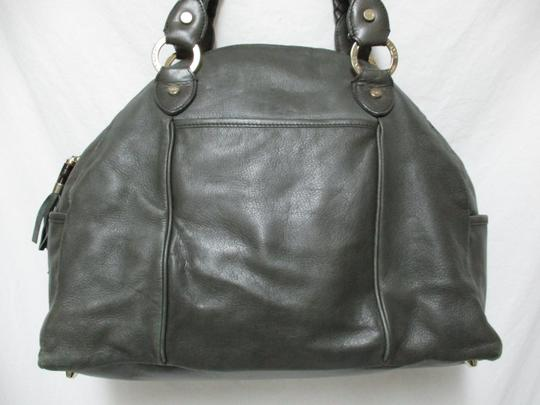 Elaine Turner Leather Purse Large Braided Shoulder Bag Image 1