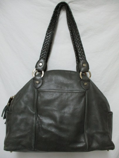 Elaine Turner Leather Purse Large Braided Shoulder Bag Image 3