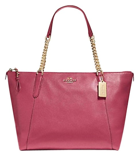 Preload https://img-static.tradesy.com/item/25679706/coach-ava-chain-f22208-pink-leather-tote-0-0-540-540.jpg