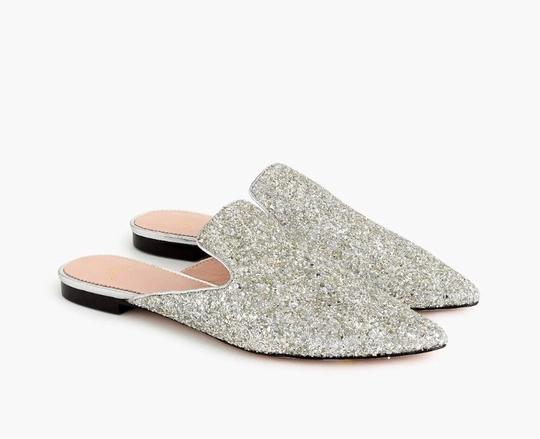 J.Crew Silver Flats Image 1