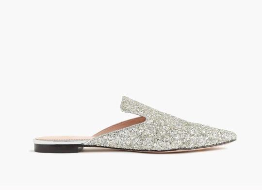 J.Crew Silver Flats Image 2