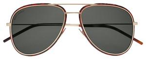 Saint Laurent Saint Laurent SL294 - 002 Double Bridge Aviator Sunglasses