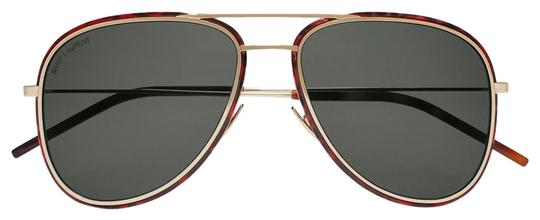 Preload https://img-static.tradesy.com/item/25679785/saint-laurent-gold-havana-sl294-002-double-bridge-aviator-sunglasses-0-1-540-540.jpg
