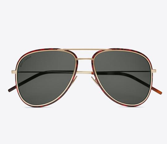 Saint Laurent Saint Laurent SL294 - 002 Double Bridge Aviator Sunglasses Image 1