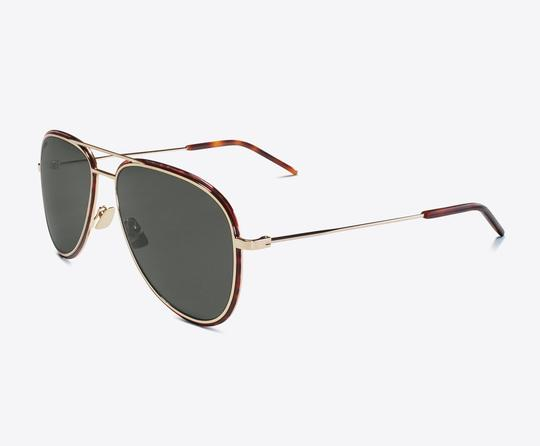 Saint Laurent Saint Laurent SL294 - 002 Double Bridge Aviator Sunglasses Image 2