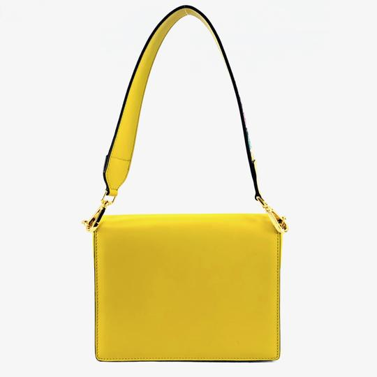 Etro Bold Bright Gold Leather Eclectic Shoulder Bag Image 1