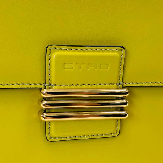 Etro Bold Bright Gold Leather Eclectic Shoulder Bag Image 10