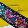 Etro Bold Bright Gold Leather Eclectic Shoulder Bag Image 11