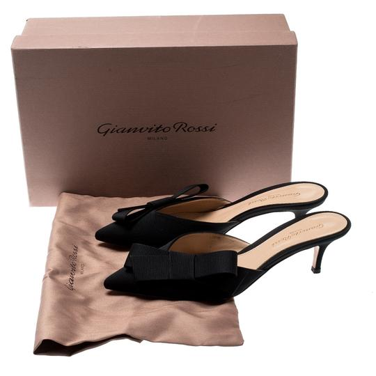 Gianvito Rossi Pointed Toe Leather Black Sandals Image 6